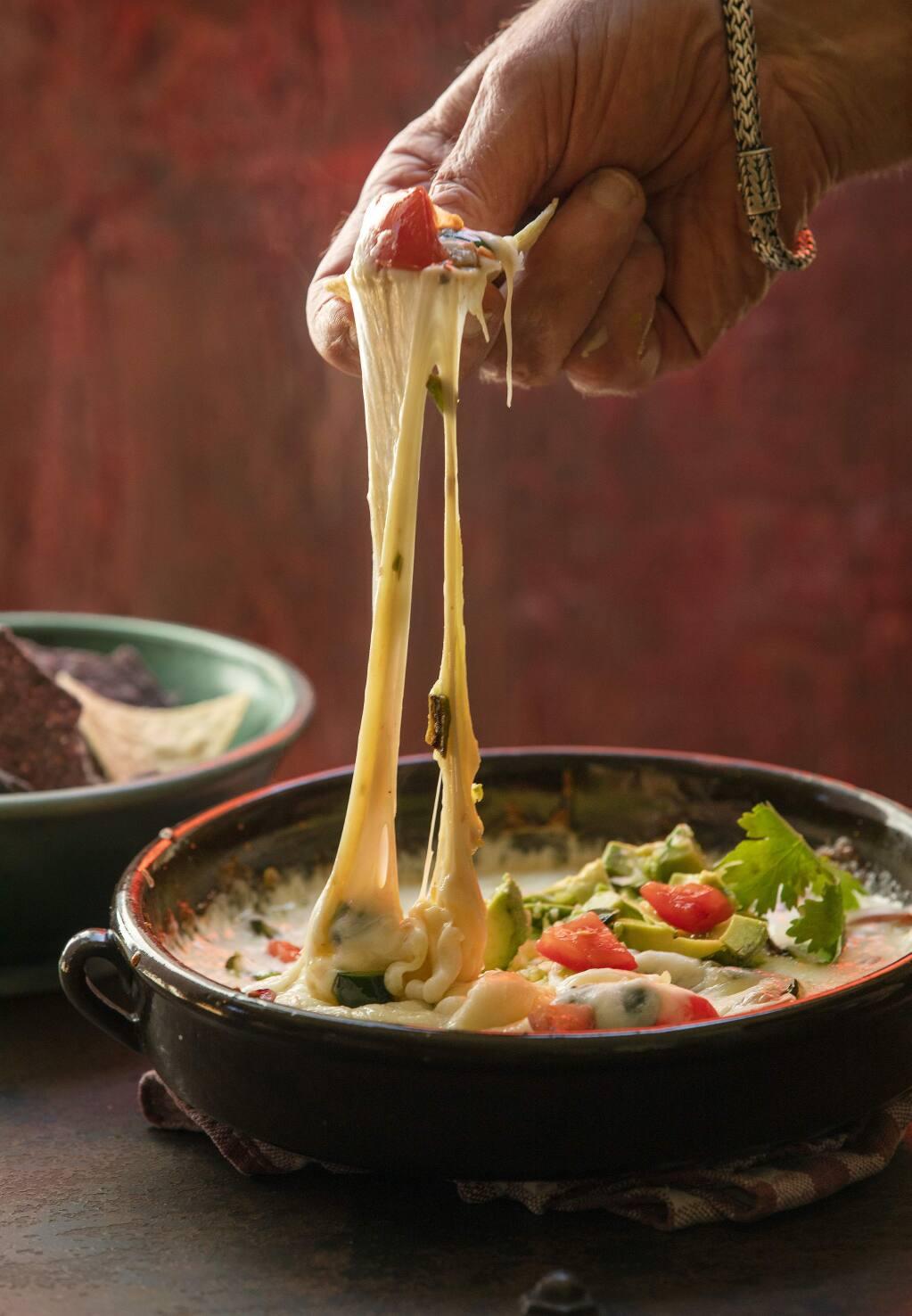 Fundido con queso, a Mexican fondue with tomatillo salsa,from Chef John Ash. (John Burgess/The Press Democrat)