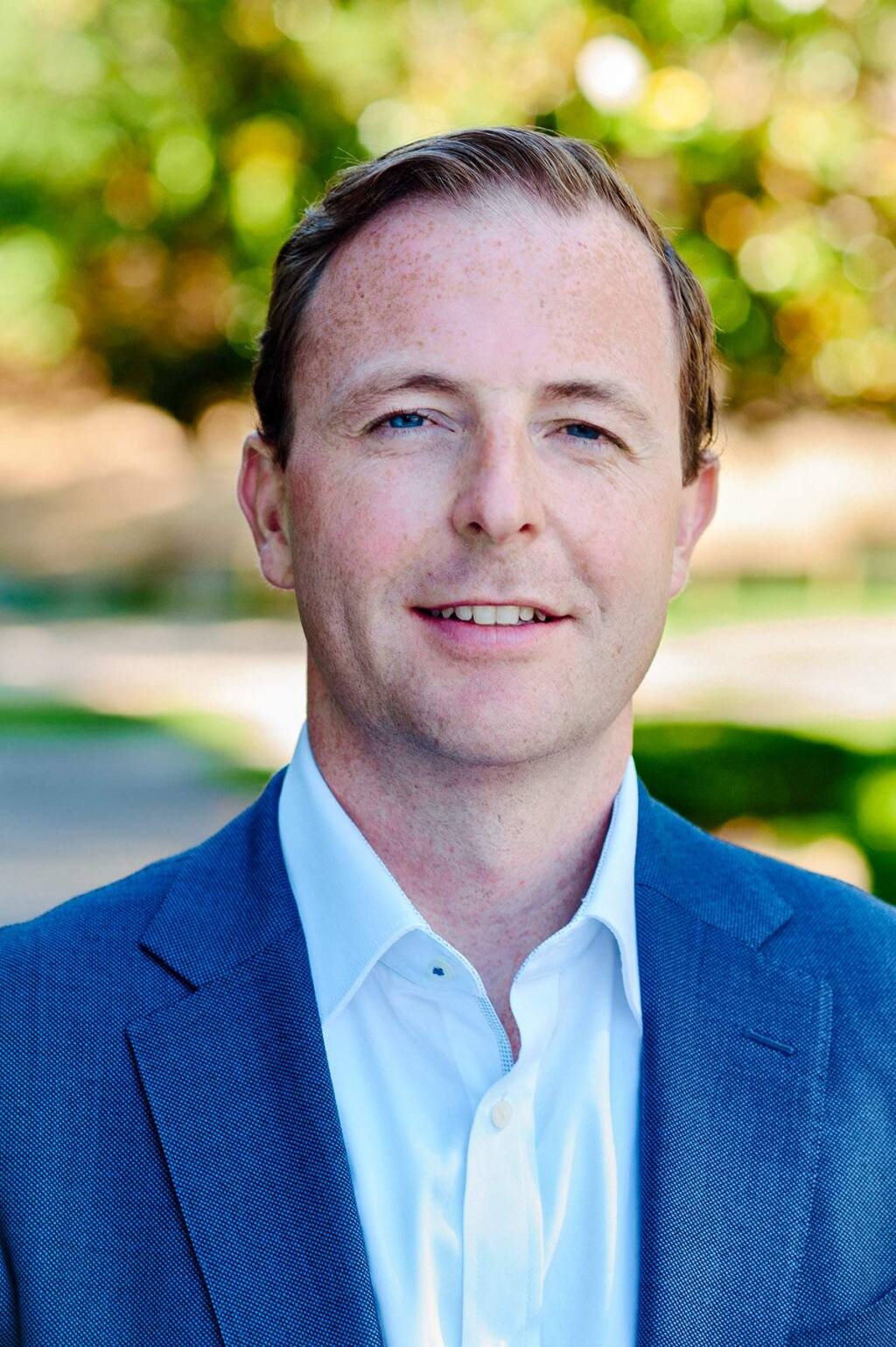 Marshall Graves, 37, senior commercial banking officer and wine industry specialist, Bank of Marin, is a 2020 Forty Under 40 winner. (Richard Wheeler photo, 2017)
