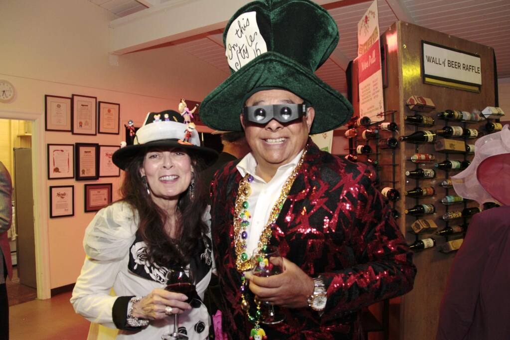Belinda Guadarrama & Jjose Chibras-Sainz at the Mad Hatter Ball held on November 16, 2019 at the Mentor Me Cavanagh Center in Petaluma CA.JIM JOHNSON for the Argus Courier.