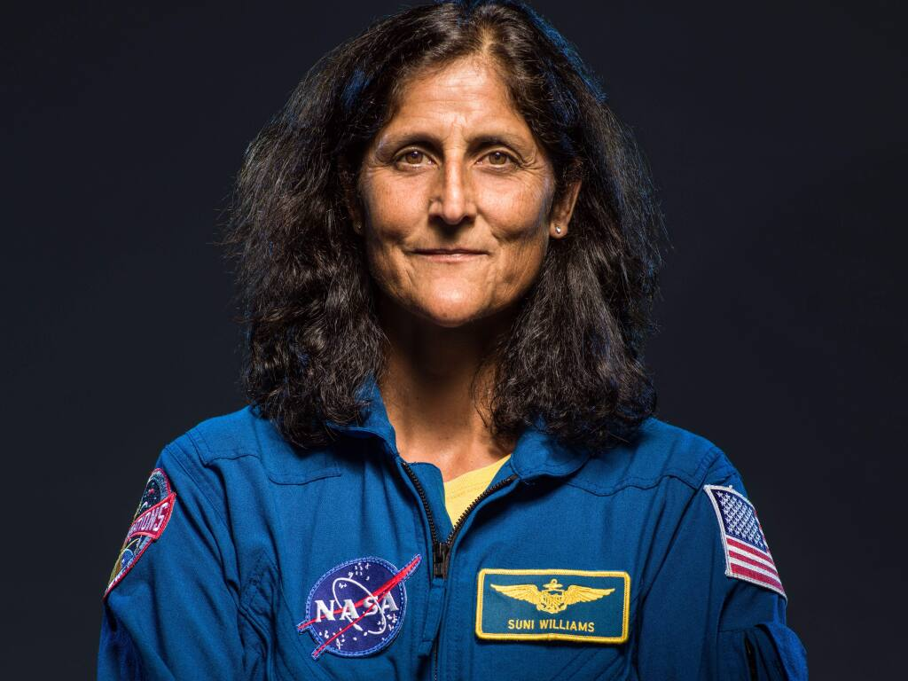 Suni Williams, commander of ISS Expedition 33, will come to Sonoma on Aug. 19 to talk about her own space flights and the future of space exploration. (Robert Markowitz/NASA)