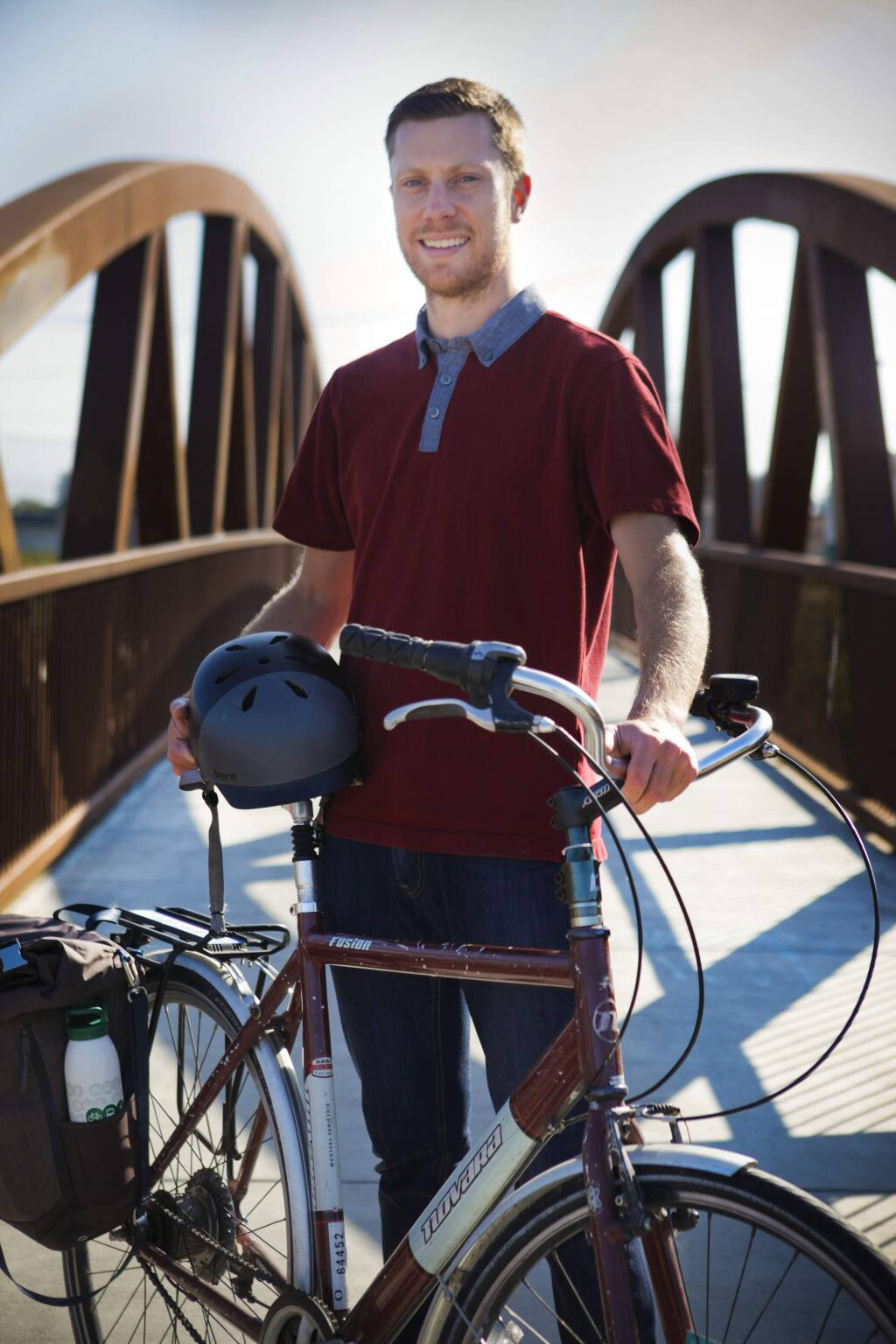 Petaluma, CA, USA. Monday, July 10, 2017._ Bjorn Griepenburg who was born and raised in Petaluma is an advocate for creating a more bike friendly city. (CRISSY PASCUAL/ARGUS-COURIER STAFF)