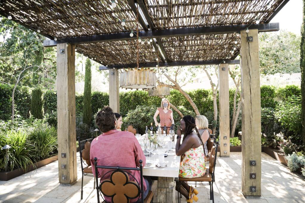 Three Sticks Winery on Spain Street has a set protocol to entertain guests during a tasting, which as of June 12 no longer requires a sit-down meal. (Elise Aileen, courtesy Three Sticks)