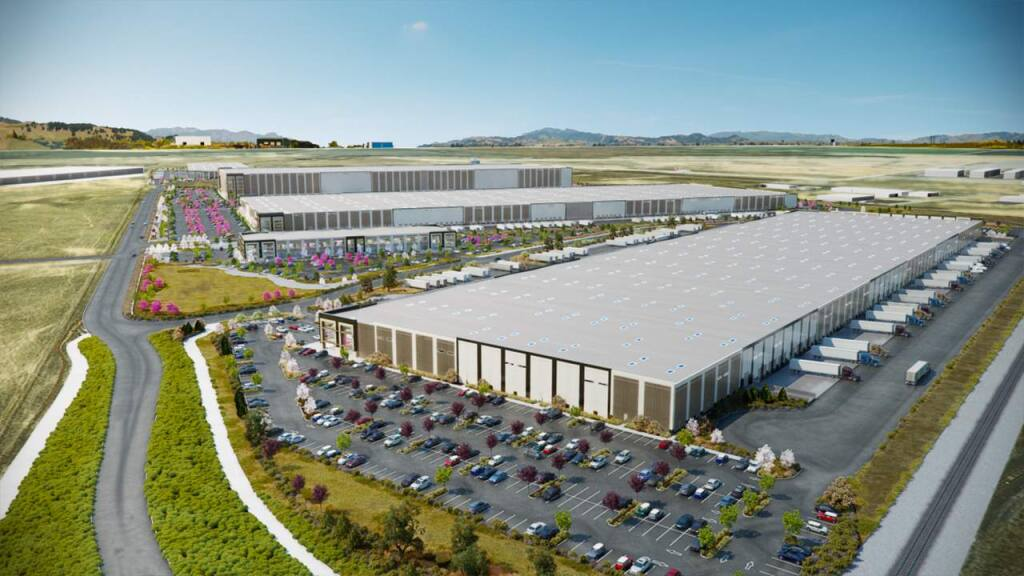 The 646,000-square-foot first building at Napa Logistics Park, completed in early 2016, is the first of 2.9 million square feet planned for the development.(NapaLogisticsPark.com)