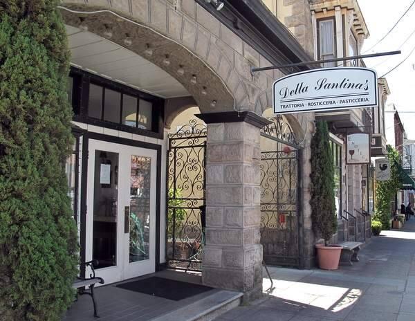 Della Santina's Trattoria is located on East Napa Street in Sonoma. (The Press Democrat)
