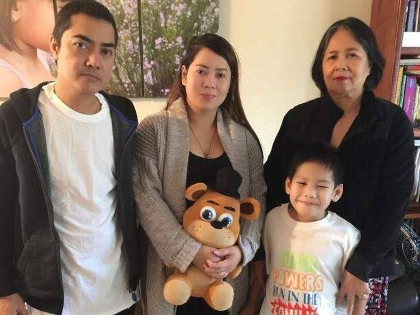 Charlie and Cristalyn Robles, with their son and Cristalyn's mother, Alicia Tanael (Courtesy photo via GoFundMe)
