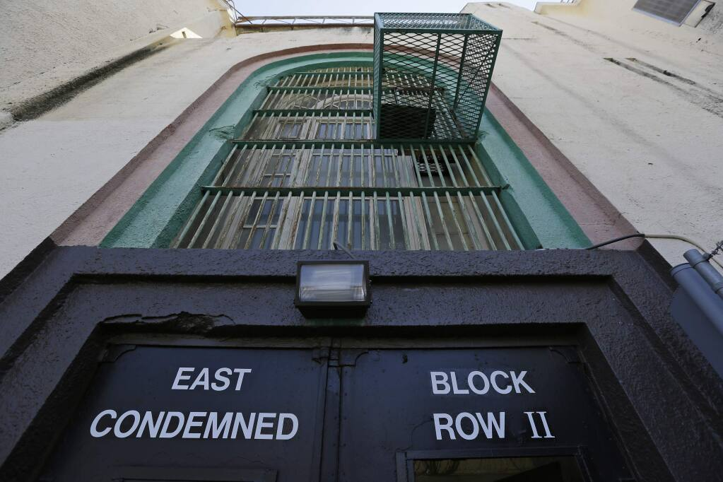 The entrance to the east block of Death Row at San Quentin State Prison. (ERIC RISBERG / Associated Press)