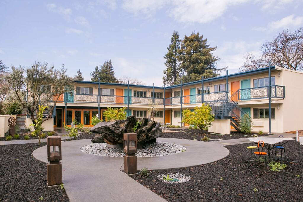Exterior of The Astro motor lodge in Santa Rosa in June 2018 (CHERYL SARFATY / NORTH BAY BUSINESS JOURNAL)