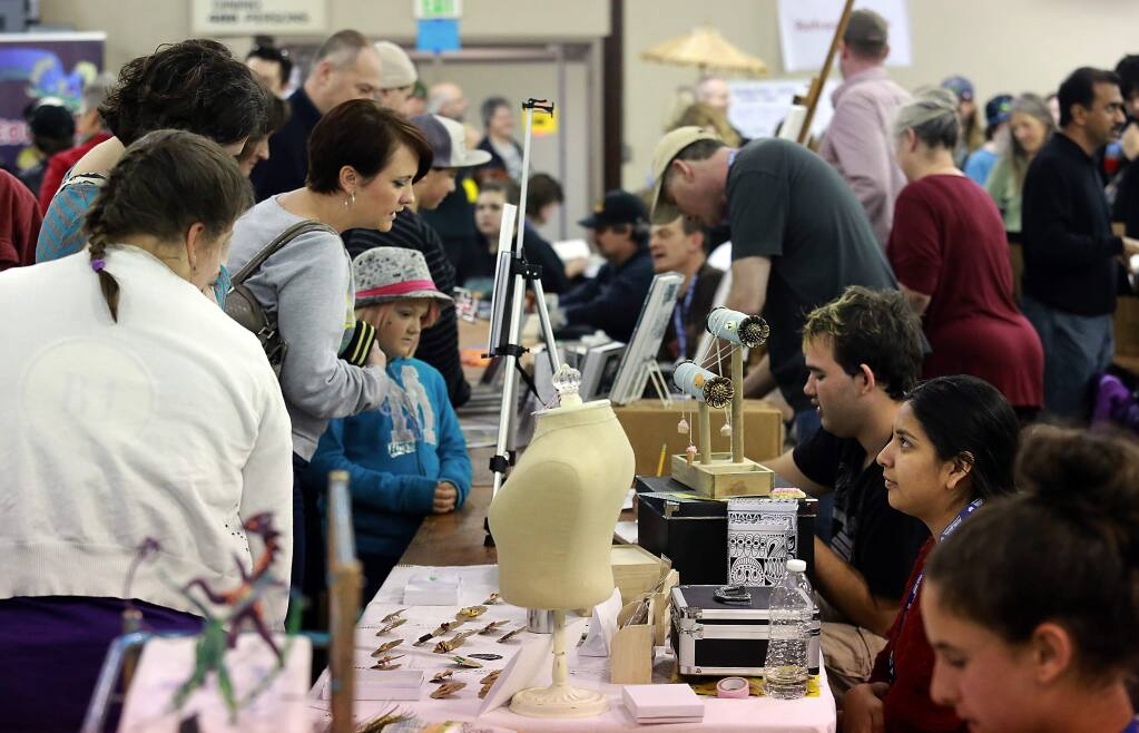 The first annual LumaCON 2015, a youth comic convention at the Sonoma-Marin Fairgrounds in Petaluma on Saturday, January 17, 2015. (photo by John Burgess/The Press Democrat)
