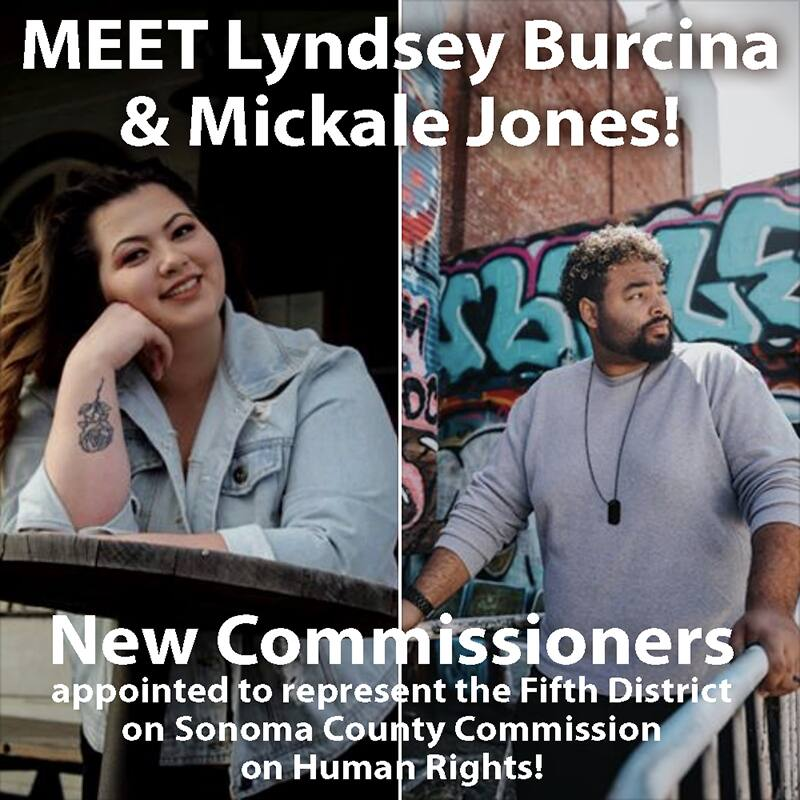 Lyndsey Burcina and Mickale Jones - New Fifth District Human Rights Commissioners