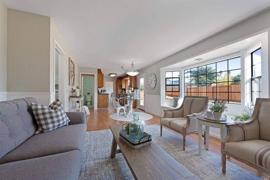 An easy open-concept living space with areas for cooking, dining and relaxing that seamlessly flow together at 435 Donner Ave., Petaluma. Property listed by Denise Lucchesi/ CENTURY 21 Bundesen, deniselucchesi.com, 707-799-6948. (Courtesy of BAREIS MLS)