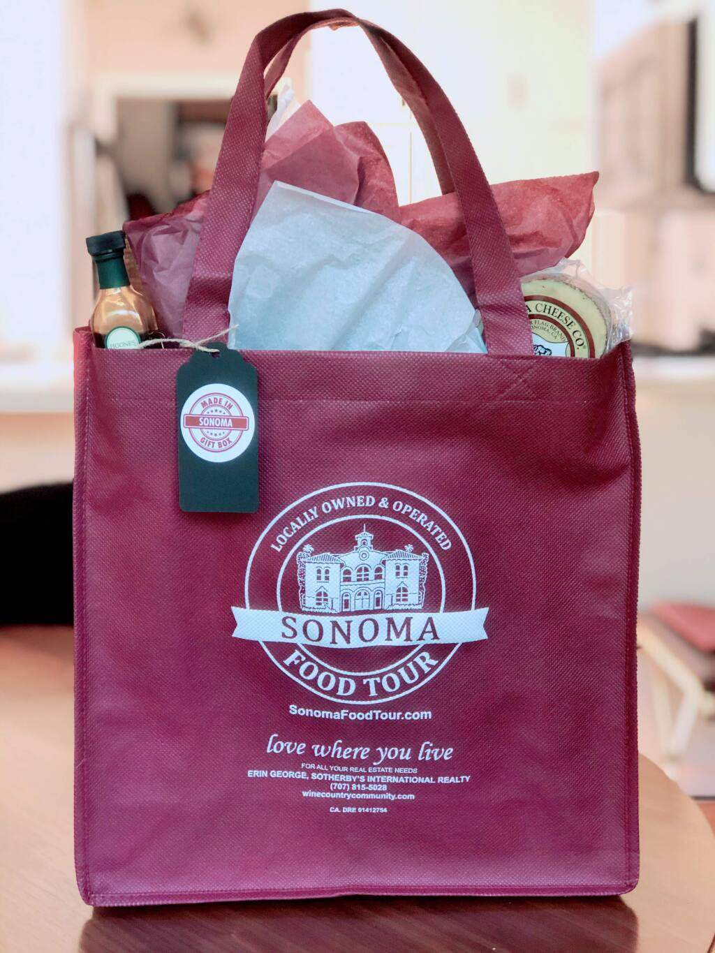 A Made-in-Sonoma gift bag.