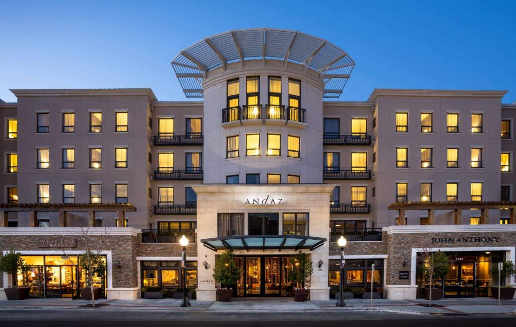 Hyatt's 141-room Andaz Napa at 1450 First St. is tailored to luxury accommodations for visitors to Napa Valley. (DON RIDDLE IMAGES, 2013, via Facebook)