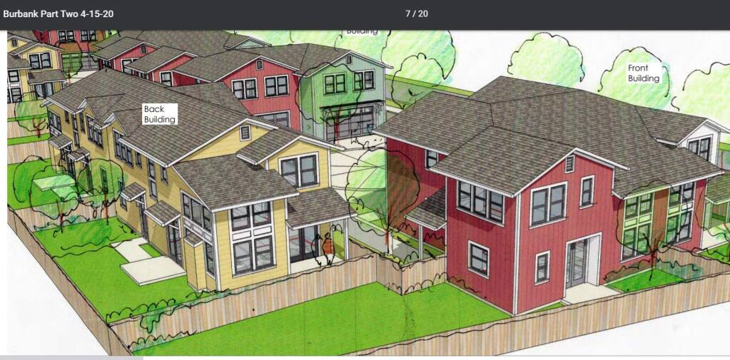 A digital rendering of the proposed Schellinger Brothers subdivision in Roseland. (Jon Worden Architects)