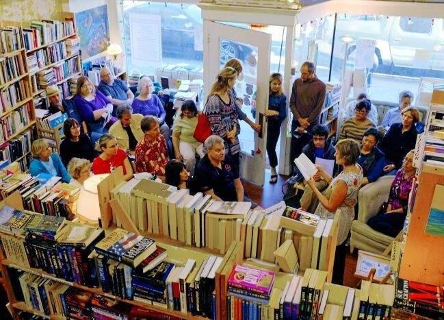 A Litquake reading at Rebound Bookstore in 2015 drew a crowd into the store.