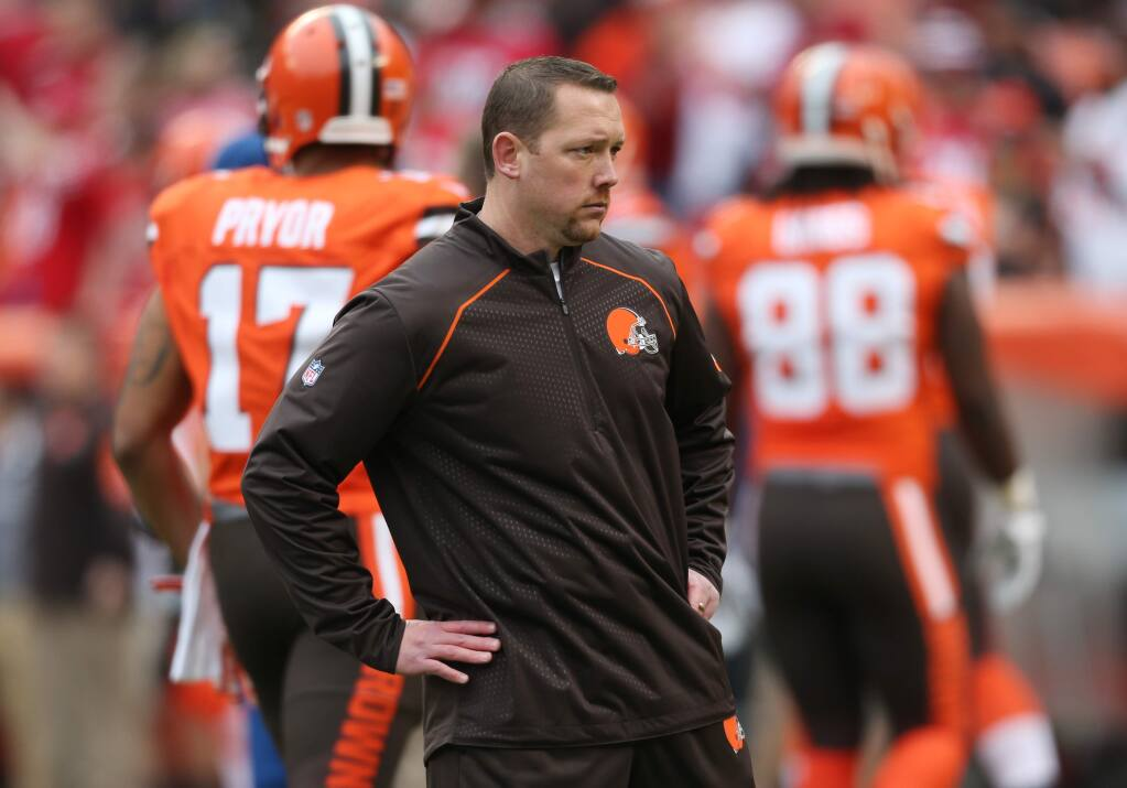 Cleveland defensive coordinator Jim O'Neil before the Browns' game against the 49ers in December. (Ron Schwane / Associated Press))