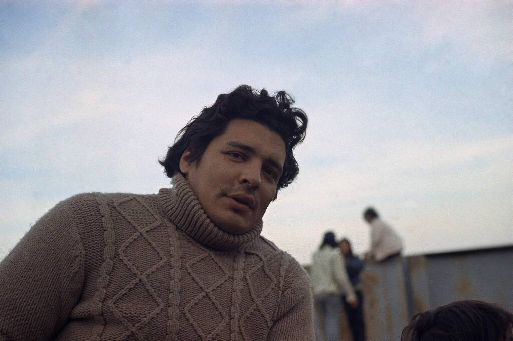 Richard Oakes, one of the Indian leaders in Alcatraz Nov. 17, 1970. (AP Photo/Sal Veder)