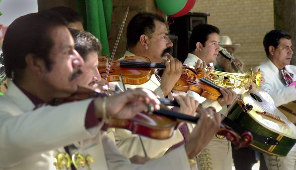 Lively music filled the air at Sonoma Plaza Sunday afternoon as 'El Grupo Mariachi los Incomparables' took to the stage during day of Cinco de Mayo activities in Sonoma. File photo.