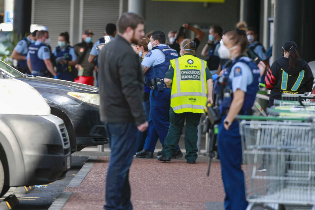"""Police in New Zealand kill """"extremist"""" who stabbed six in supermarket"""