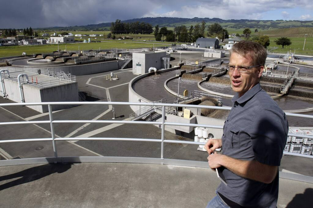 Matt Pierce, Operations Supervisor of the Ellis Creek Water Recycling Facility, at the facility in Petaluma on Monday, March 25, 2016. (SCOTT MANCHESTER/ARGUS-COURIER STAFF)