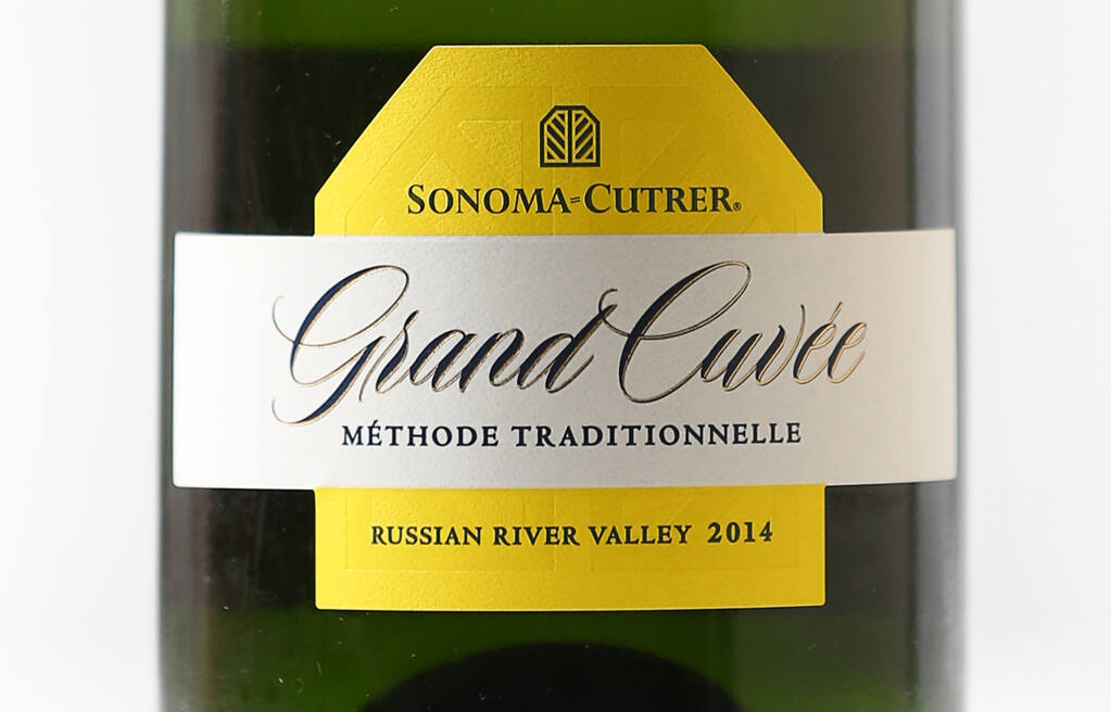 Best of the Best, Best of Show Sparkling and Best of Sonoma County: Sonoma-Cutrer 2014 Grand Cuvée, Russian River Valley.  (Christopher Chung / The Press Democrat)