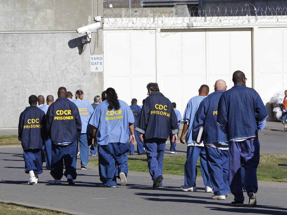Inmates in the exercise yard at California State Prison Sacramento. (RICH PEDRONCELLI / Associated Press, 2013)