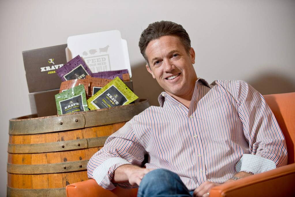Jon Sebastiani founded Krave Jerky brand in 2009 before selling it to Hershey in 2015. (ALVIN JORNADA/ PD)