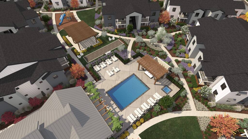 Renderings of the Sonoma Ranch Apartment Homes project in Larkfield-Wikiup. (Brandon Broll)