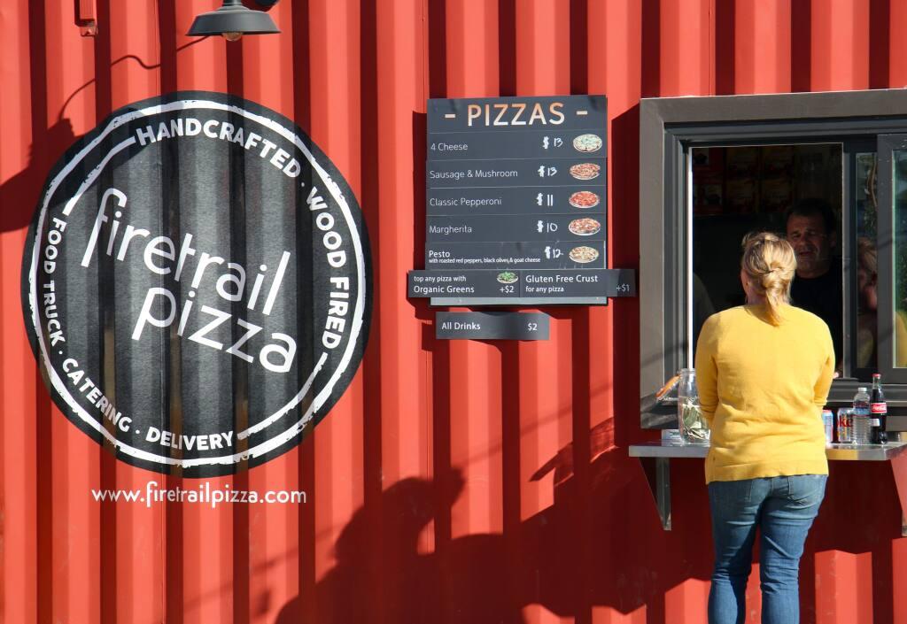Firetrail pizza at The Block in Petaluma. Heather Irwin/Sonoma Magazine