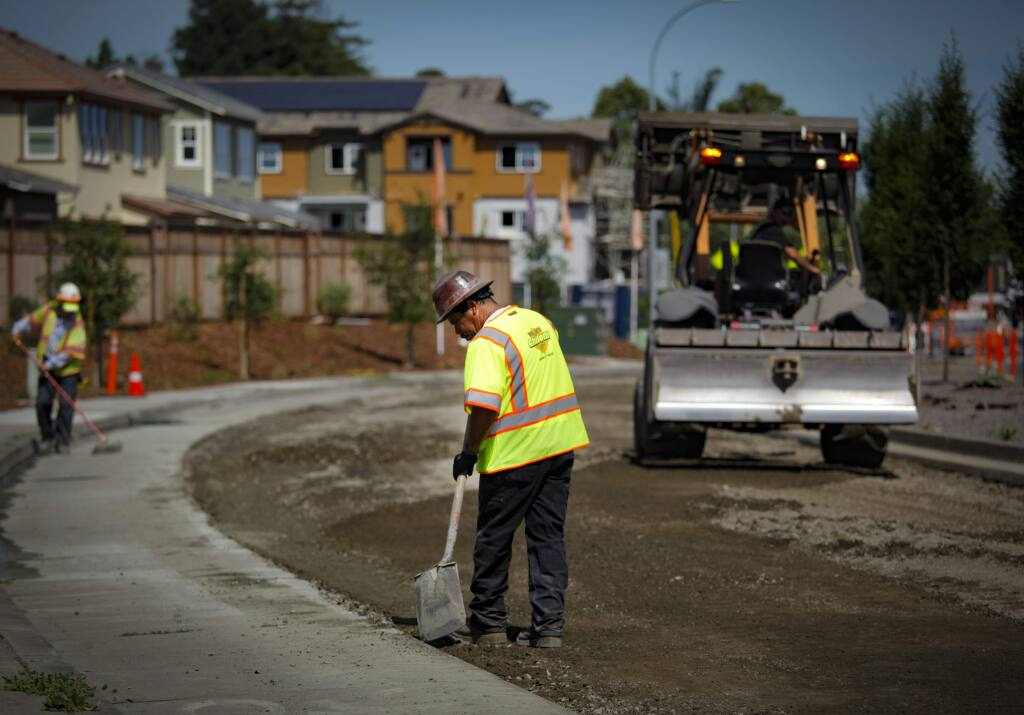 Petaluma, CA, USA._Monday, June 10, 2019. Road work on Sonoma Mountain Parkway in June added 19 ADA compliant curb ramps. (CRISSY PASCUAL/ARGUS-COURIER STAFF)