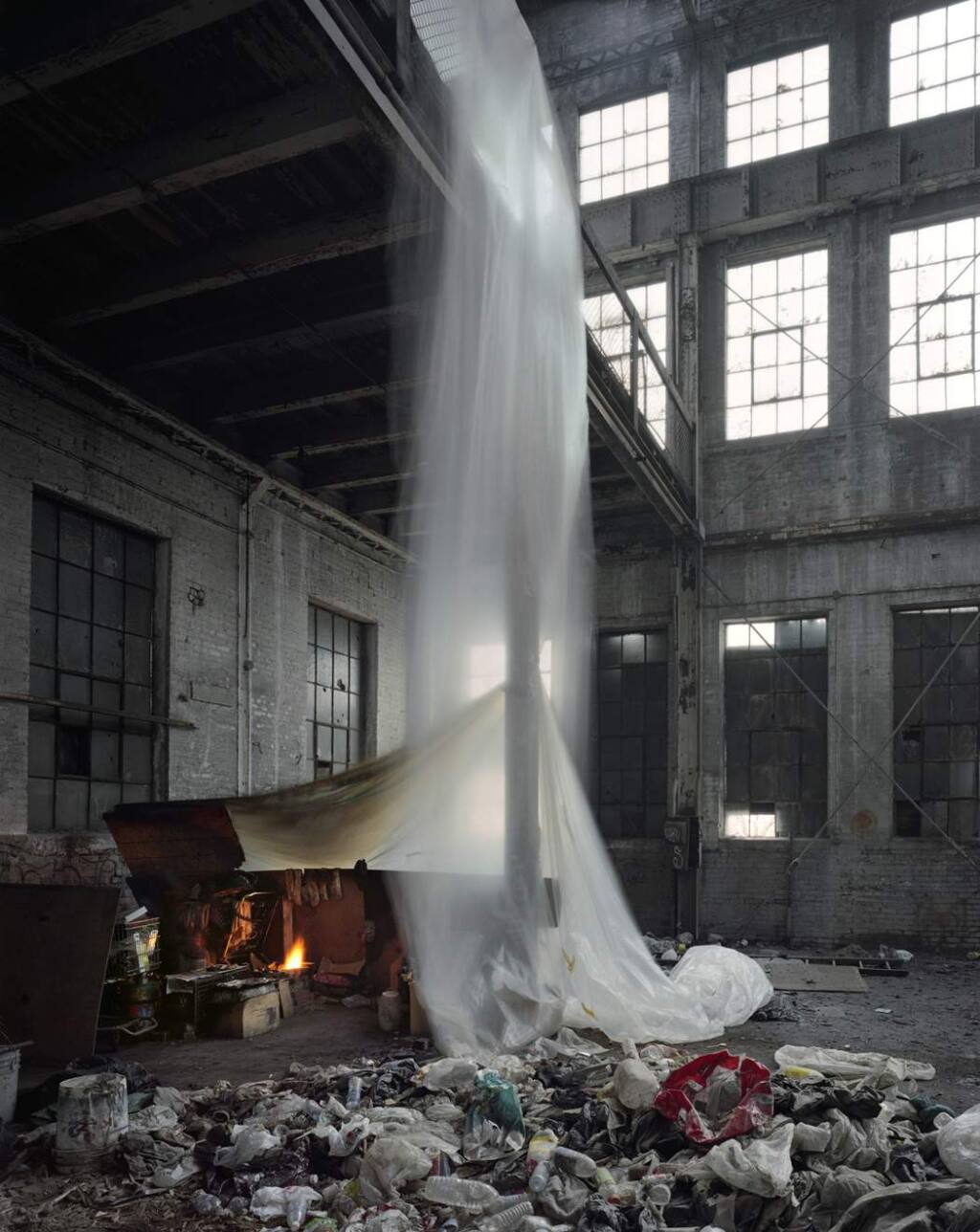 """Andrew Moore, whose piece 'A Moore Detroit Dry Dock' is on display in """"Time and Place: Human Impact and Our Changing Environment,' is known for his photographic series that record the effect of time on the natural and man-made landscapes. (COURTESY PHOTO)"""