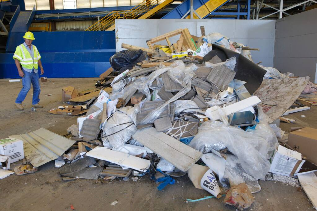 Petaluma, CA, USA. Monday, May 01, 2017._ The recycling center in Petaluma operated by Republic Services recently made some upgrades to their facility. (CRISSY PASCUAL/ARGUS-COURIER STAFF)