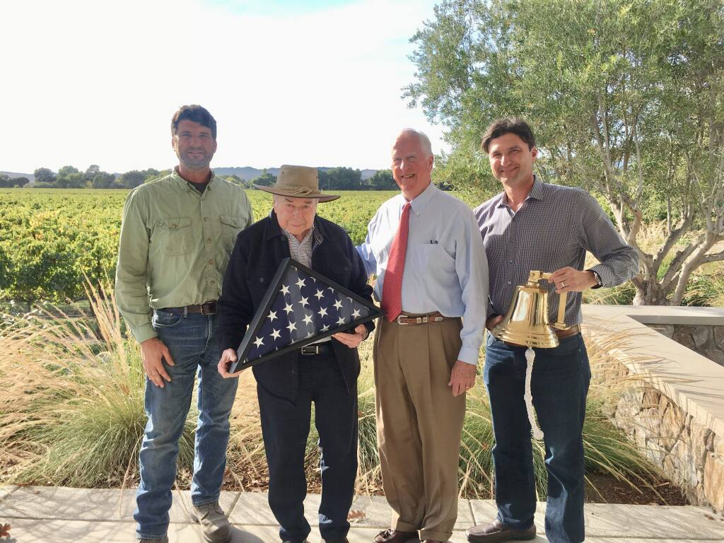 Mike Sangiacomo, Angelo Sangiacomo, Rep. Mike Thompson and Steven Sangiacomo. Steven Sangiacomo of Sangiacomo Family Vineyards is one of the co-treasurers of the Sonoma Valley Vintners and Growers Alliance board.