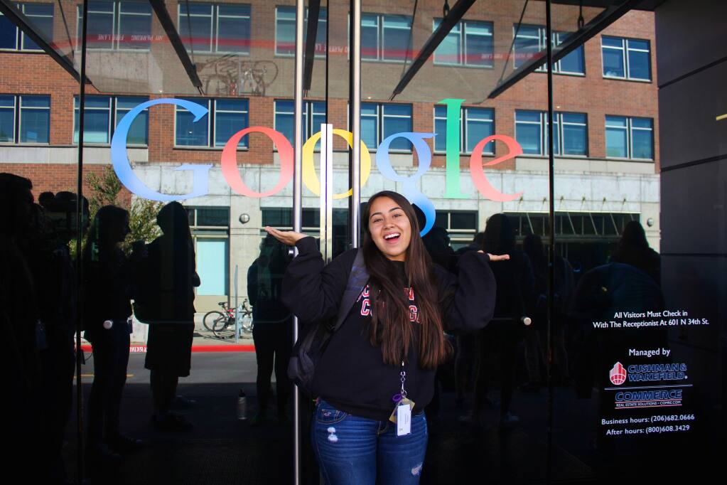 Stephanie Angulo will have worked for both Google and Facebook before she starts her sophomore year at Occidental College.