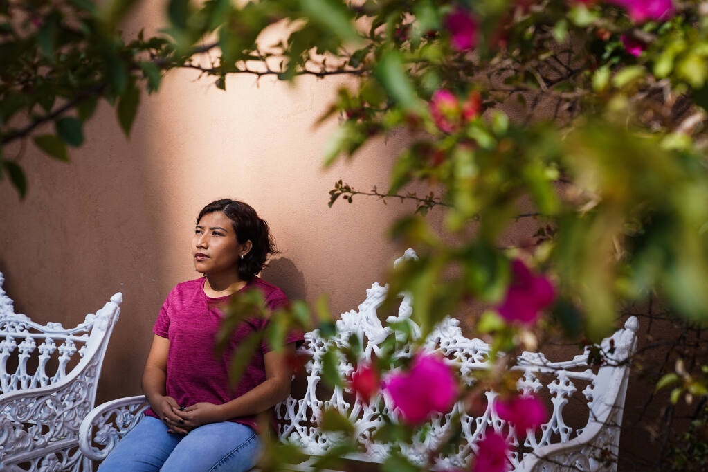 Martha Patricia Méndez in Guerrero, Mexico on Sept. 11, 2021. Méndez said that she arrived at a hospital in Veracruz bleeding heavily after taking an abortion pill, but that the staff made her wait for hours before being seen by a specialist. (Marian Carrasquero/The New York Times)