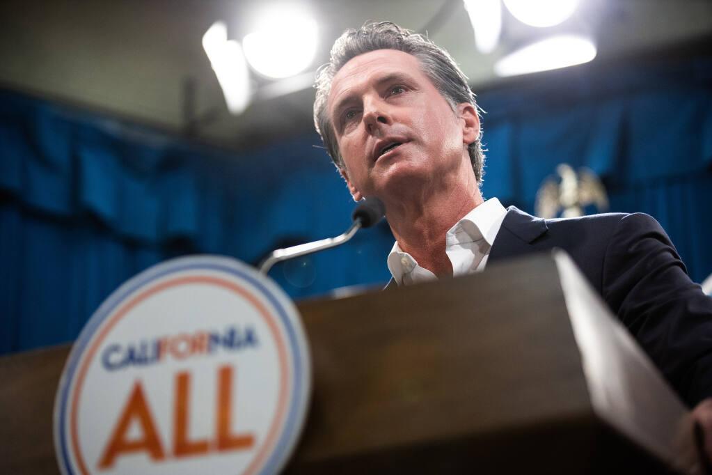 FILE -- California Gov. Gavin Newsom  (Max Whittaker/The New York Times)