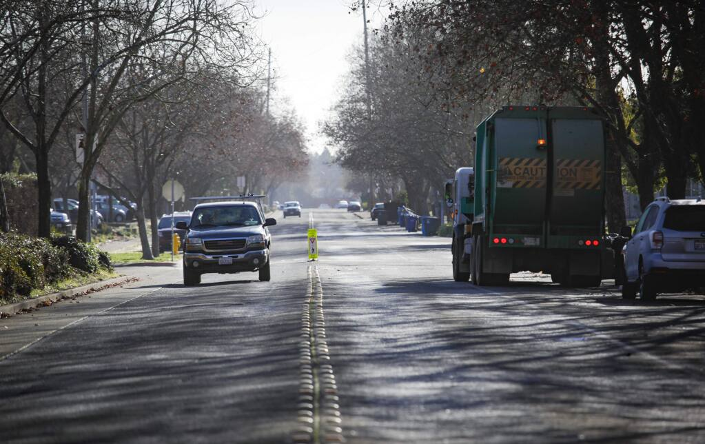 Petaluma, CA, USA. Monday, January 13, 2020._ Maria Drive from Sonoma Mountain Parkway to Rainier will soon be repaved.(CRISSY PASCUAL/ARGUS-COURIER STAFF)