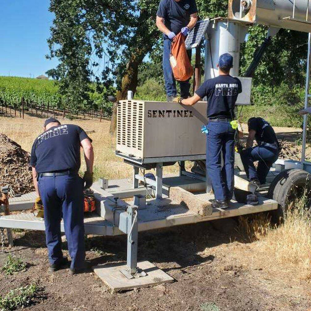 Sonoma County sheriff's officials say a man was stuck in a fan shaft on Piner Road for two days. He was rescued Tuesday, June 8, 2021.  (Santa Rosa Firefighters Local 1401/Facebook)