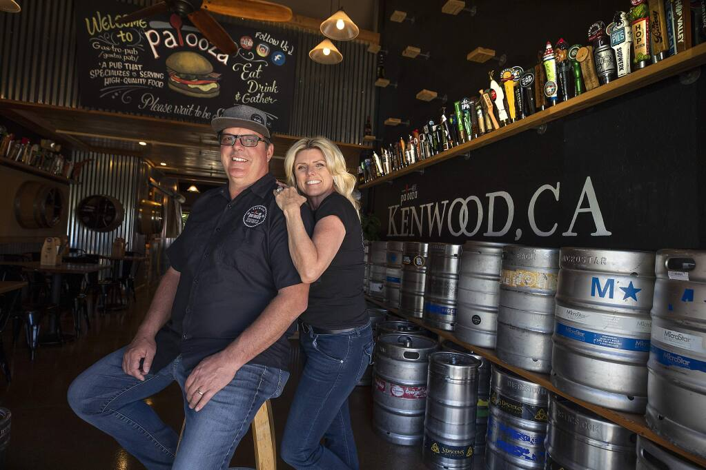 Palooza Brewery and Gastropub owners Jeff and Suzette Tyler in Kenwood. (photo by John Burgess/The Press Democrat)