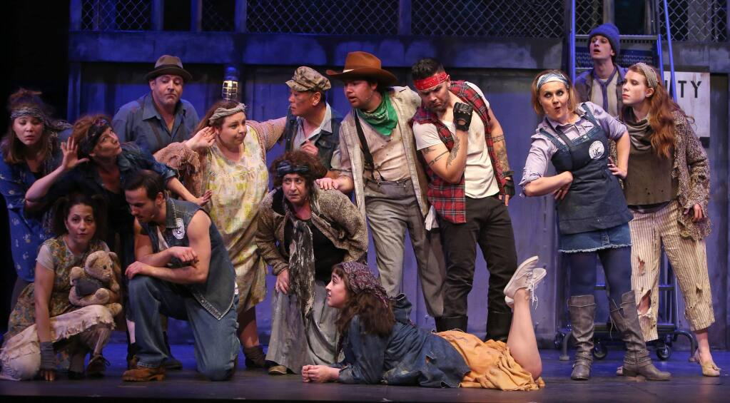 'I SEE A RIVER': In the outrageous musical 'Urinetown,' everyone must pay to pee.(PHOTOS COURTESY SPRECKELS THEATRE COMPANY)