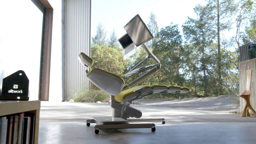 A reclining workstation created by Altwork, a Sonoma County startup. (Altwork)