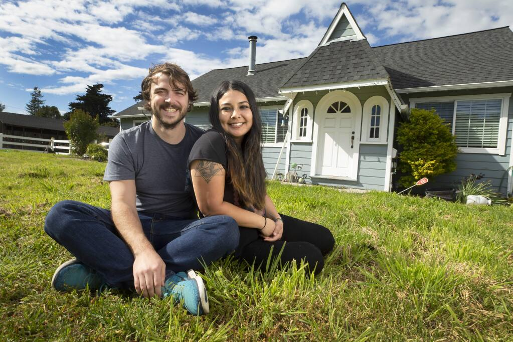 Julian and Zaira Castro have put in an offer on their own home in Santa Rosa, but are questioning their decision in the face of a declining housing market caused by the coronavirus. The couple currently lives with Julian's parents in west county. (John Burgess/The Press Democrat)