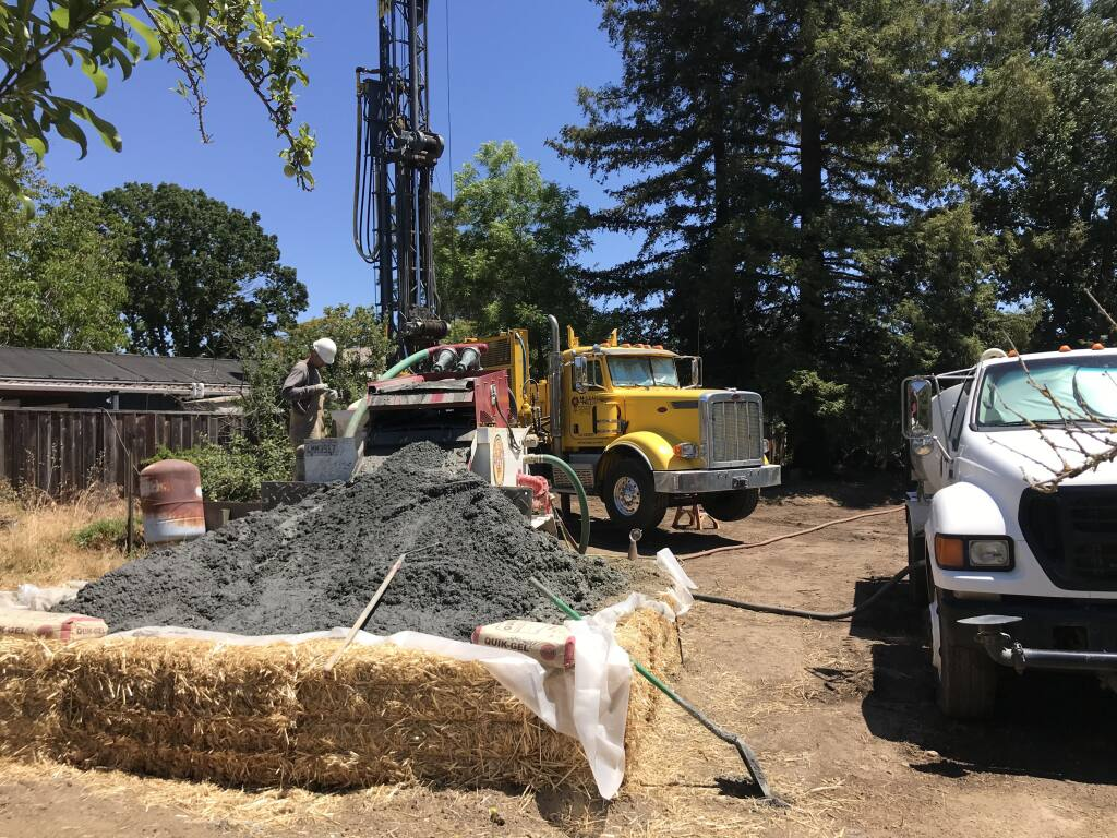 McLean & Williams, water well specialists in Napa, is dealing with more demand than it can handle with limited equipment and available labor force. (Photo courtesy Jamie Reagan)