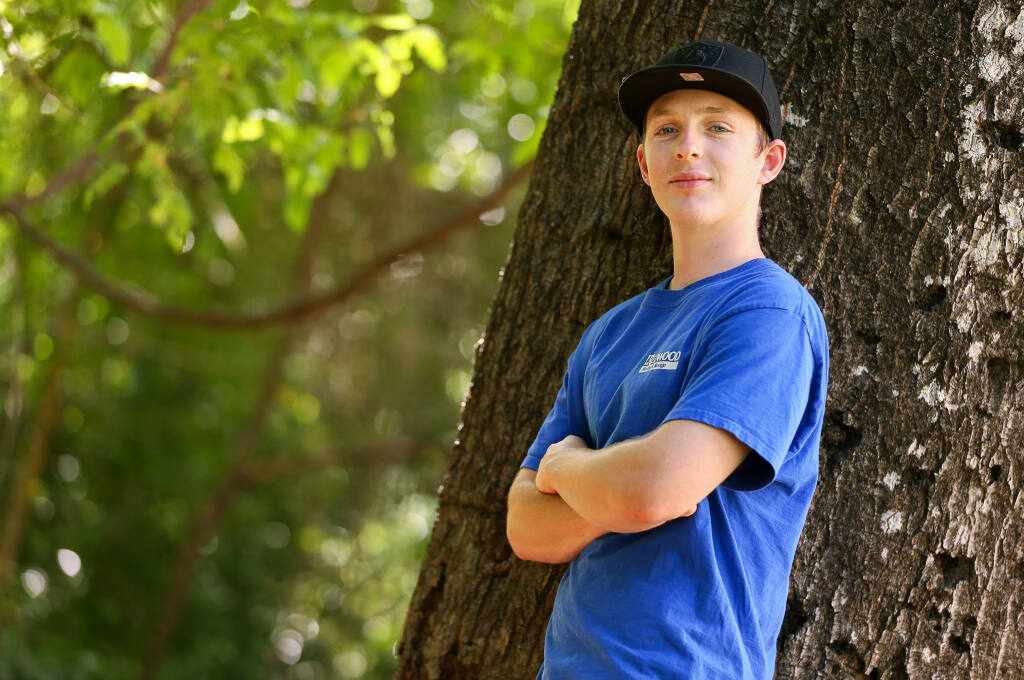 Athan Tucker feels fortunate to have received a good personal finance education at the NextGen Trades Academy, that taught him the importance of budgeting and saving money. (Christopher Chung/ The Press Democrat)