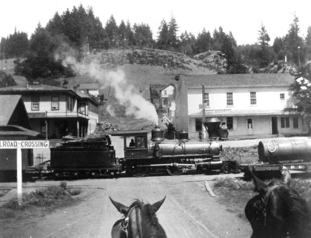 A horse travels down Coleman Valley Road in Occidental in 1889. (Barbara Gonnella)