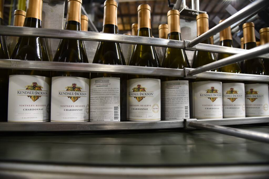 Jackson Family Wines achieved 15% reduction in its glass packaging footprint from 2015-2019 by using lighter-weight glass. (courtesy of Jackson Family Wines)