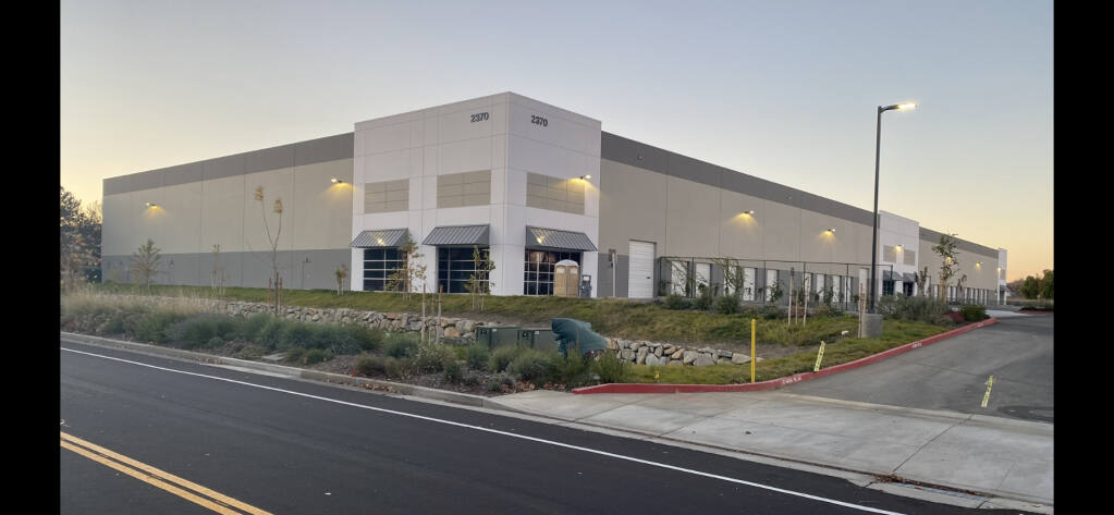 The class A 104,000-square-foot industrial facility at 2370 N. Watney Way, Fairfield, completed in June 2020, was built to respond to growing demand. (courtesy photo) 2020