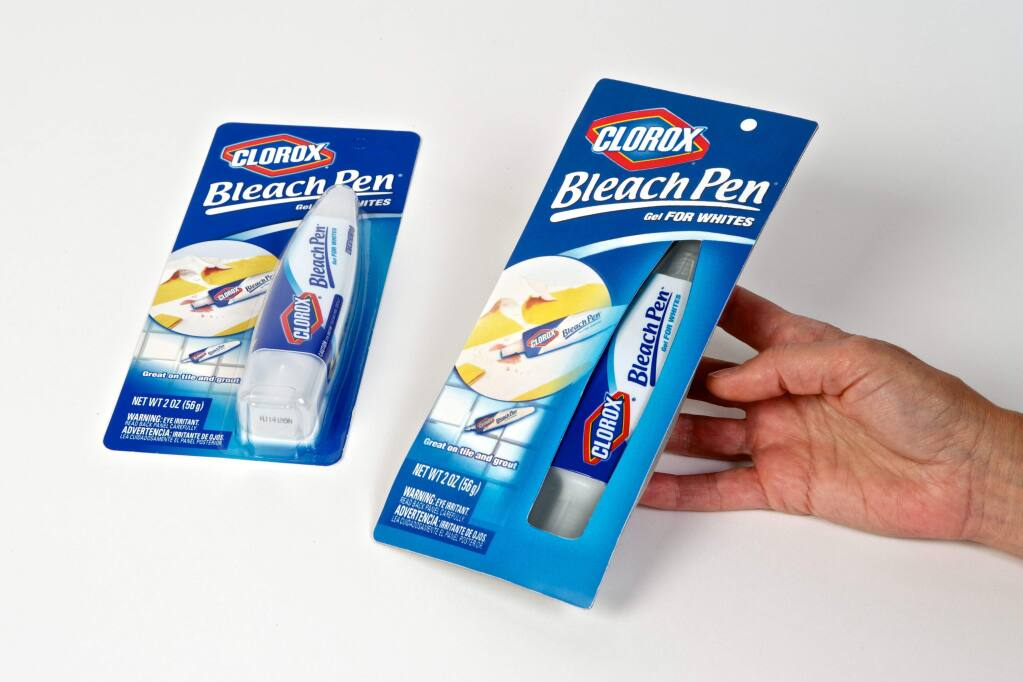 PulpWorks created sample sustainable packaging for a bleach product made by Clorox.