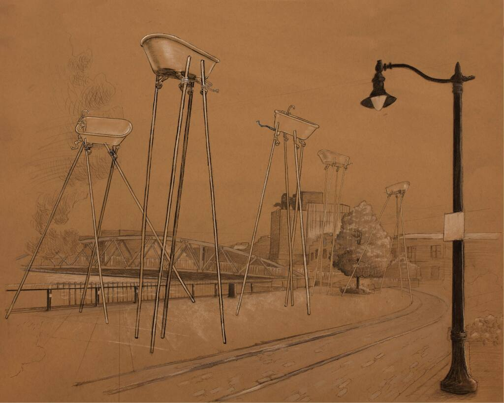 Renderings of the Water Street public art project (BRIAN GOGGIN)