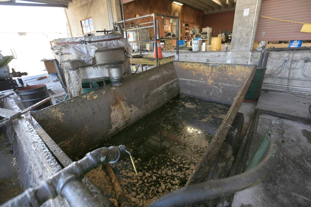 Vegetable oils remain unprocessed at the Yokayo Biofuels plant in Ukiah, Monday July 14, 2014. (Kent Porter / Press Democrat) 2014