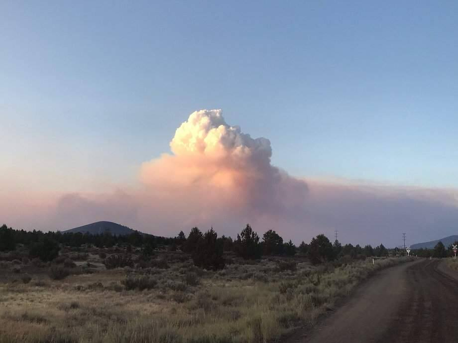 A wildfire burning in Modoc County on Monday, July 29, 2019. (USFS-MODOC/ TWITTER)